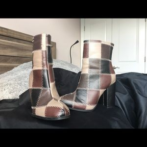 Checkered booties from Cato!